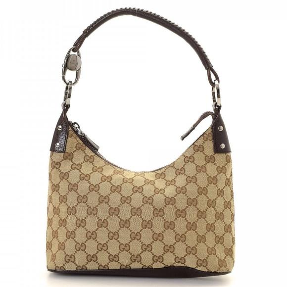 821967c57 Gucci Handbags - Gucci Monogram hobo bag style#11502 khaki/brown